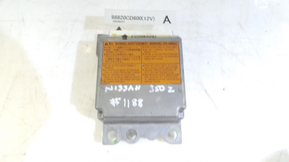 Nissan 350Z 2002 Airbag Control Module Computer 98820CD600